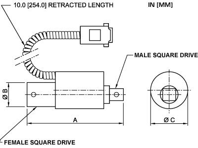 Abmessungen BGI Sensoren STE