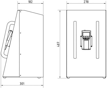 Abmessungen Feuchtigkeitsmesser Biomasse BM2