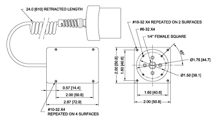 Abmessungen Drehmomentsensor R52 Series