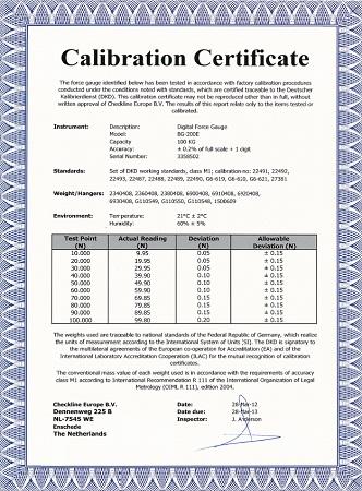 Mini kraftsensor f r zug und druckkraft r04 series for Pressure gauge calibration certificate template